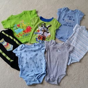 💜3/$15. 3-6mo boy shirt lot